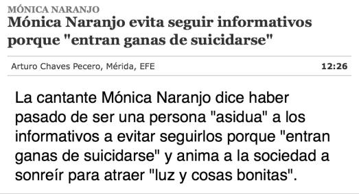 los informativos dan ganas de suicidarse